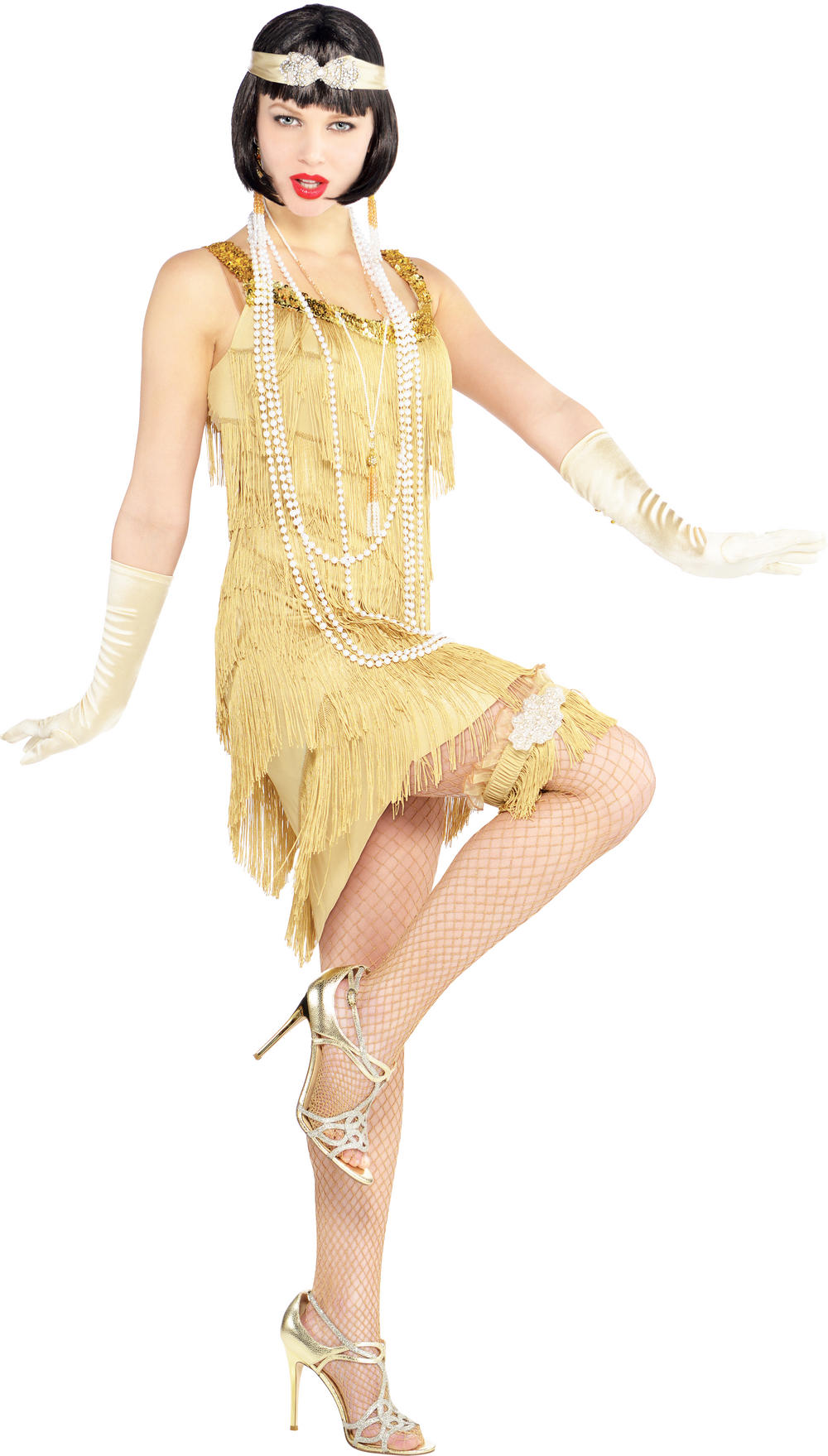 Champagne Flapper Dress Costume