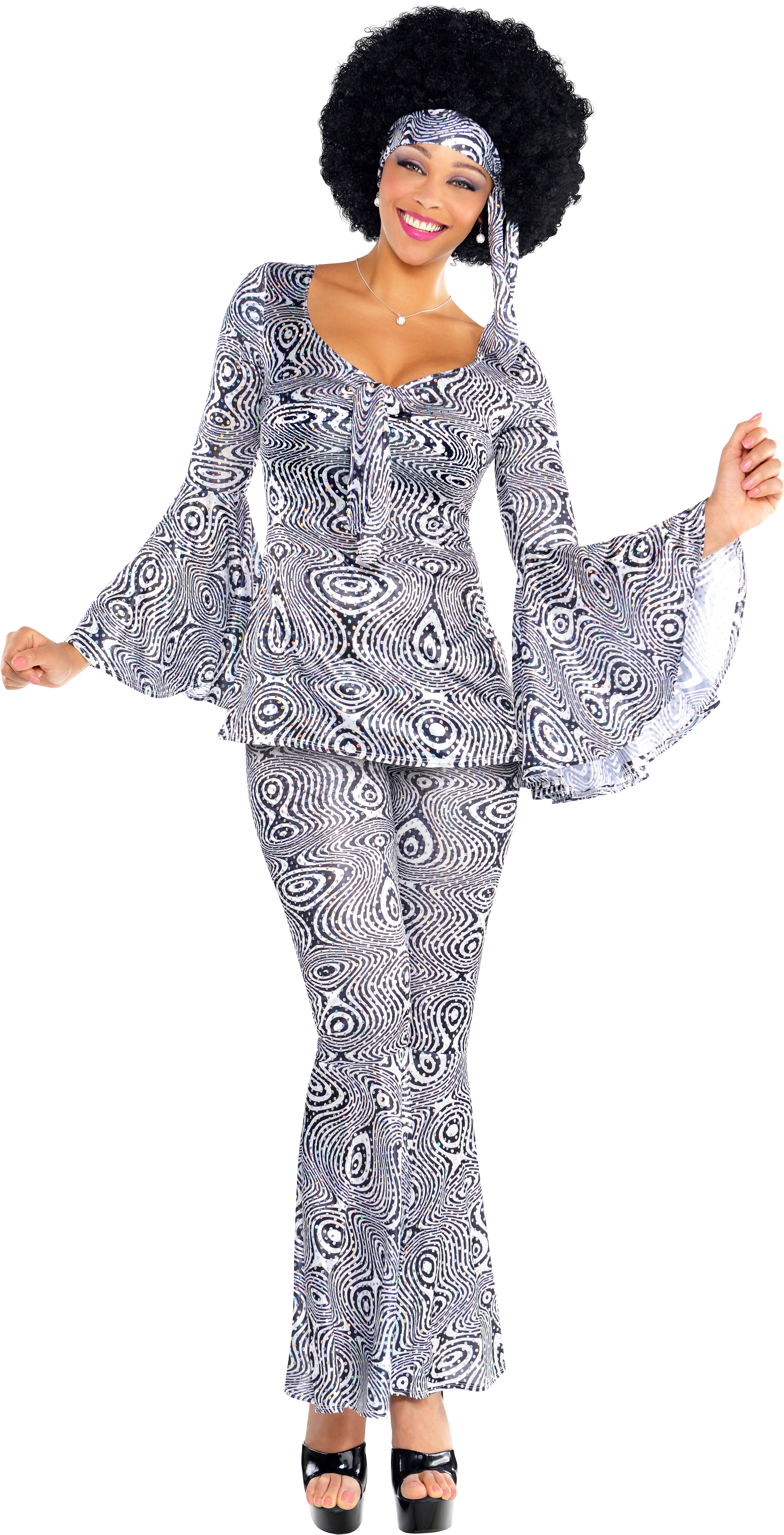1019816aae Sentinel 1970s Dancing Queen Ladies Fancy Dress 70s Groovy Disco Fever Womens  Costume New Sc 1 St EBay