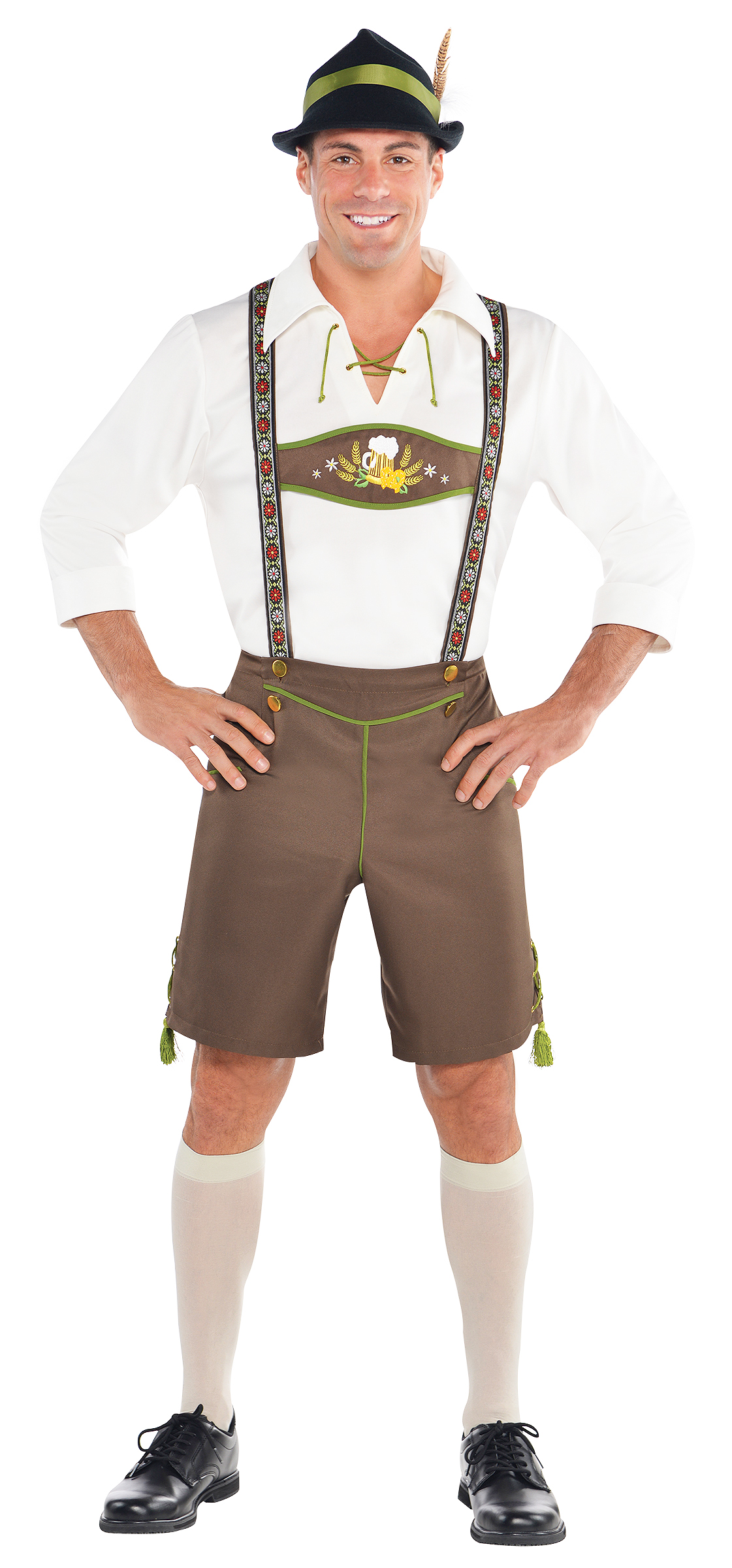oktoberfest lederhosen hat mens fancy dress german. Black Bedroom Furniture Sets. Home Design Ideas