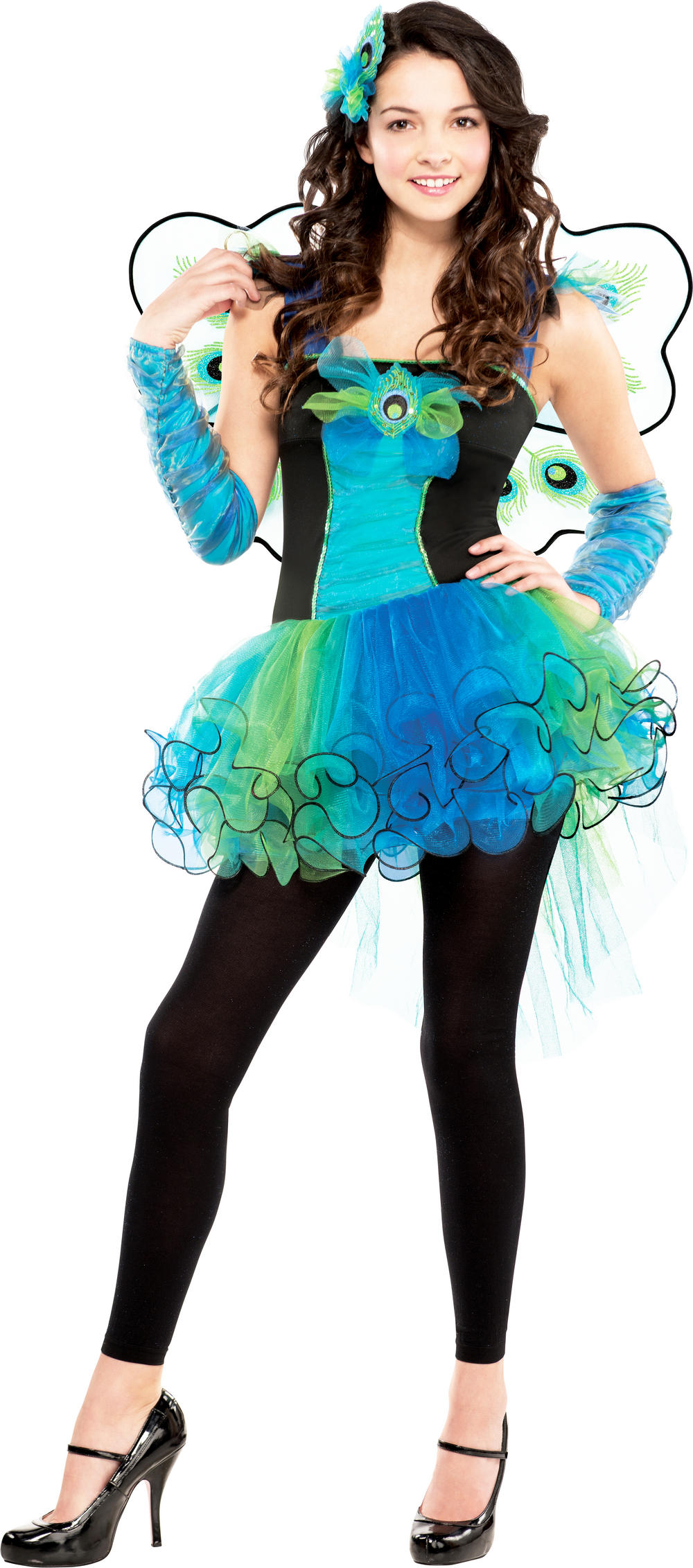 Peacock Diva Costume | Girl\'s World Book Day Fancy Dress Costumes ...