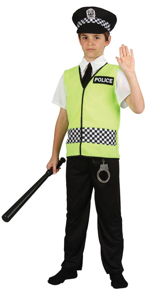 Police Cop Officer Boys Fancy Dress Emergency Services ...