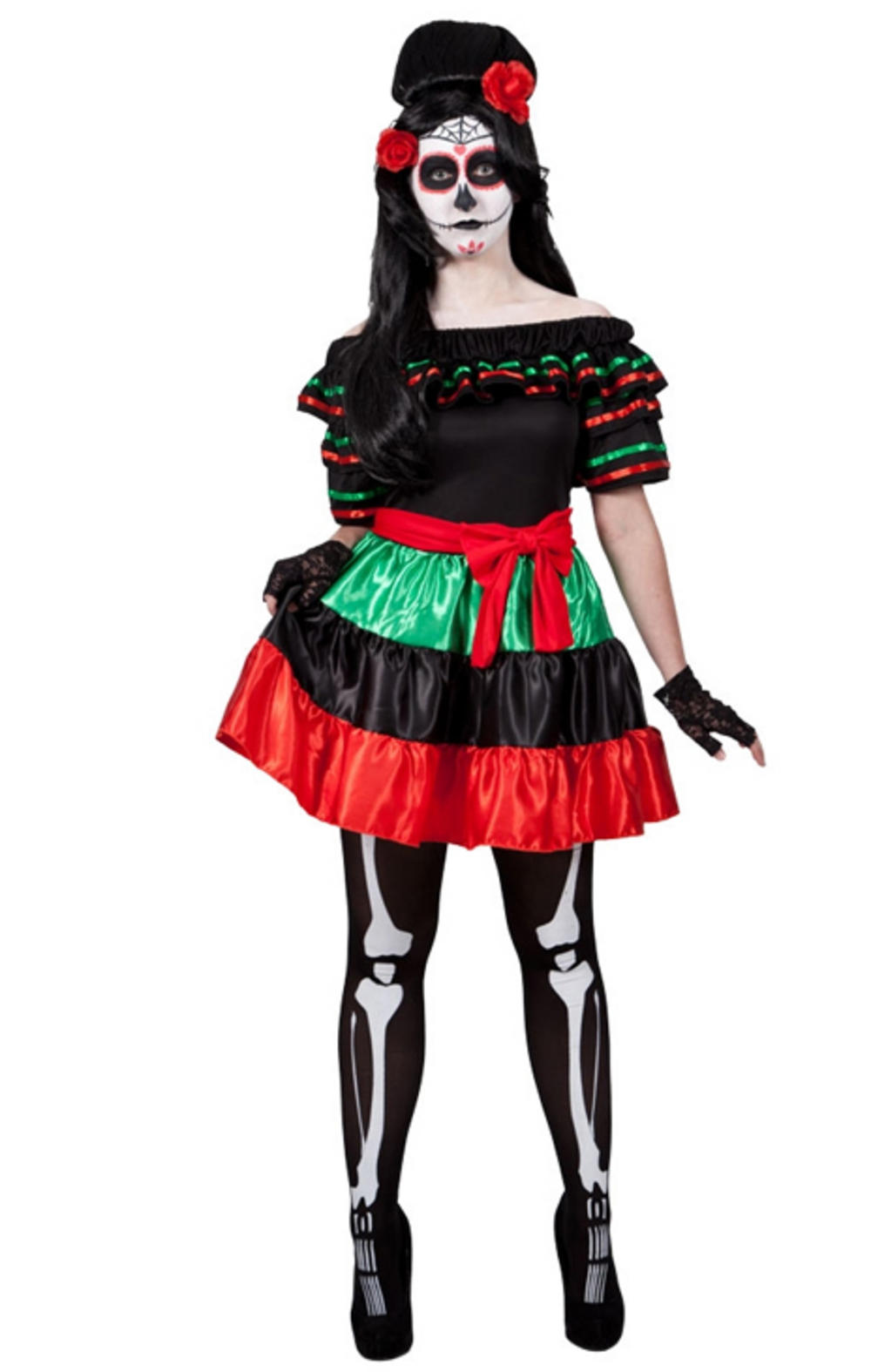 Mexican Day Of The Dead Ladies Costume