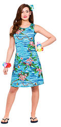 Hawaiian Short Orchid Ocean Ladies Costume