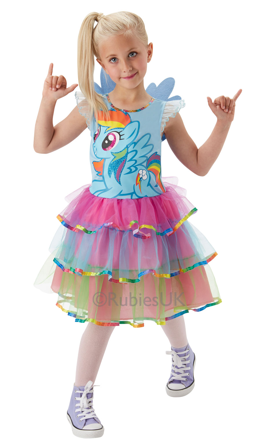 Rainbow Dash My Little Pony Fancy Dress Girls Cartoon ...