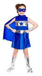 Blue Superhero Girls Costume