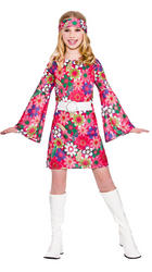 Retro Gogo Hippy Girls Costume