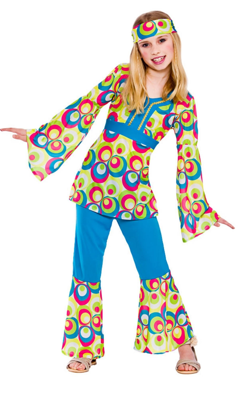 4879cd383 Retro Hippie Girls Costume | 1960s Costumes | Mega Fancy Dress