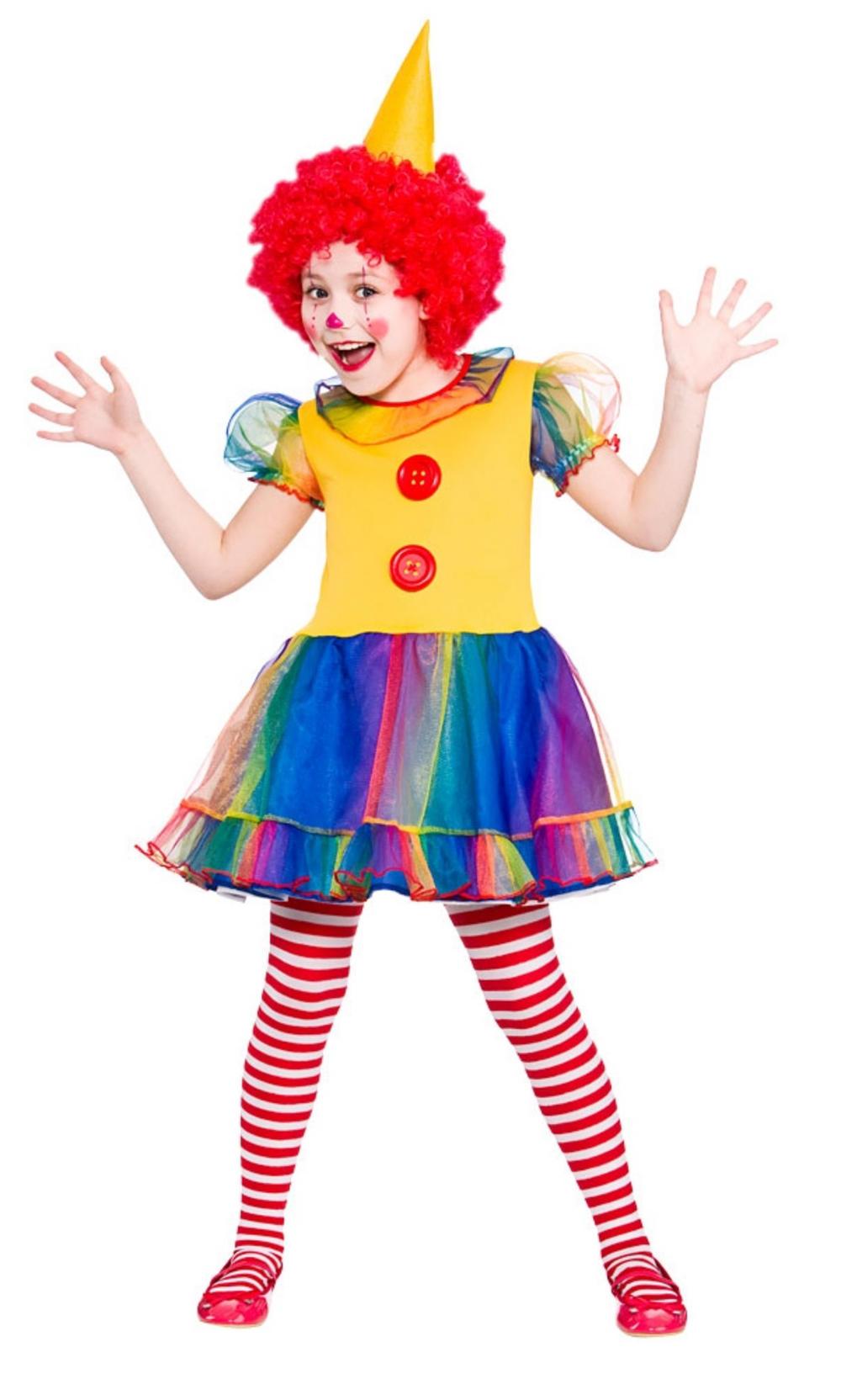 Cute Little Clown Girls Costume