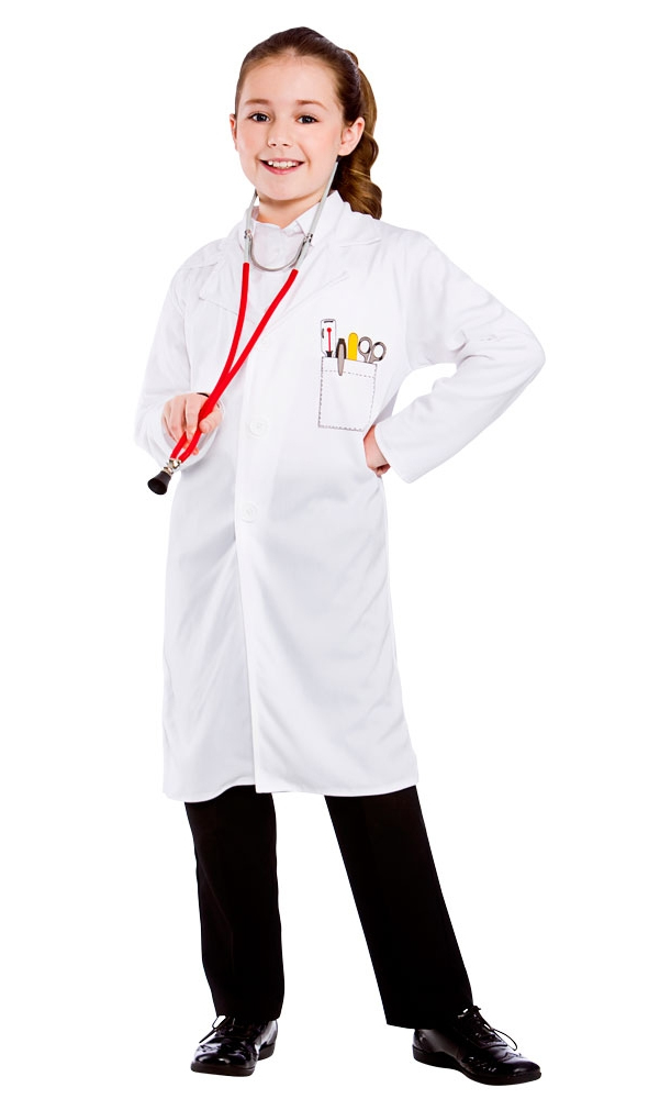 Sentinel Doctors Coat Kids Fancy Dress Hospital Boys Girls Uniform Occupation Costume New  sc 1 st  eBay & Doctors Coat Kids Fancy Dress Hospital Boys Girls Uniform Occupation ...