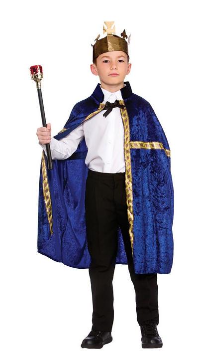 Deluxe Blue King/Queens Robe & Crown Set