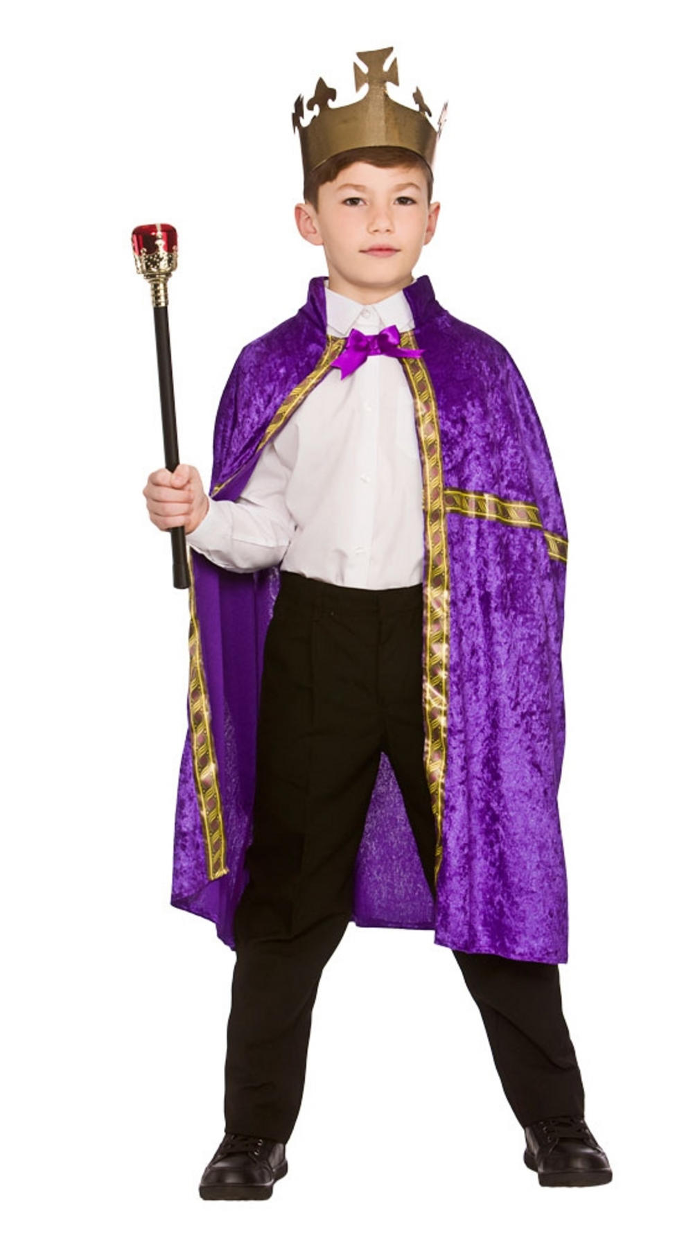 Deluxe Purple King/Queens Robe & Crown Set | Girl\'s World Book Day ...