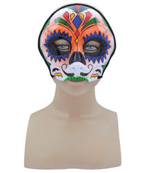 Orange Sugar Skull Mask