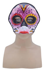 Pink Sugar Skull Mask