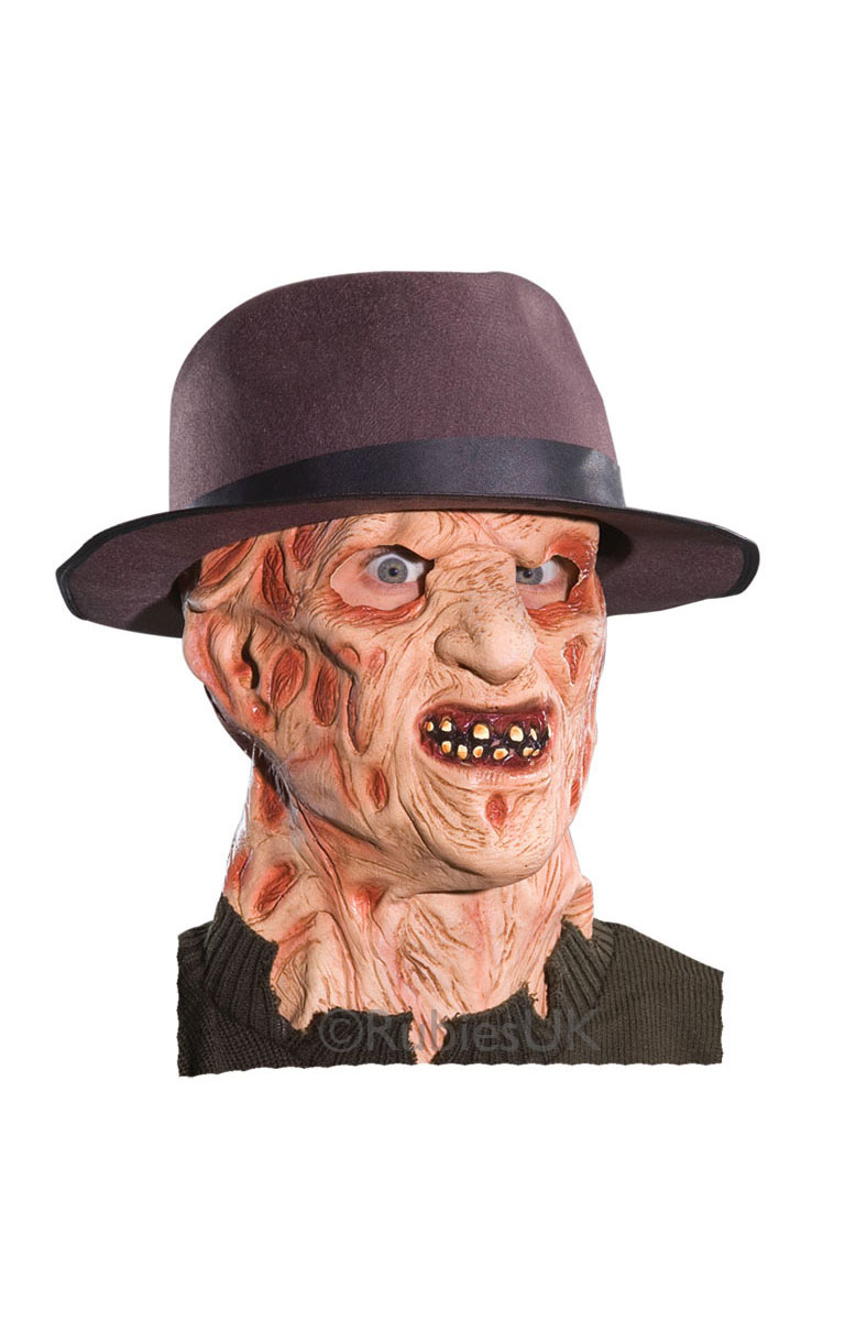 freddy krueger mens mask fancy dress halloween horror scary spooky
