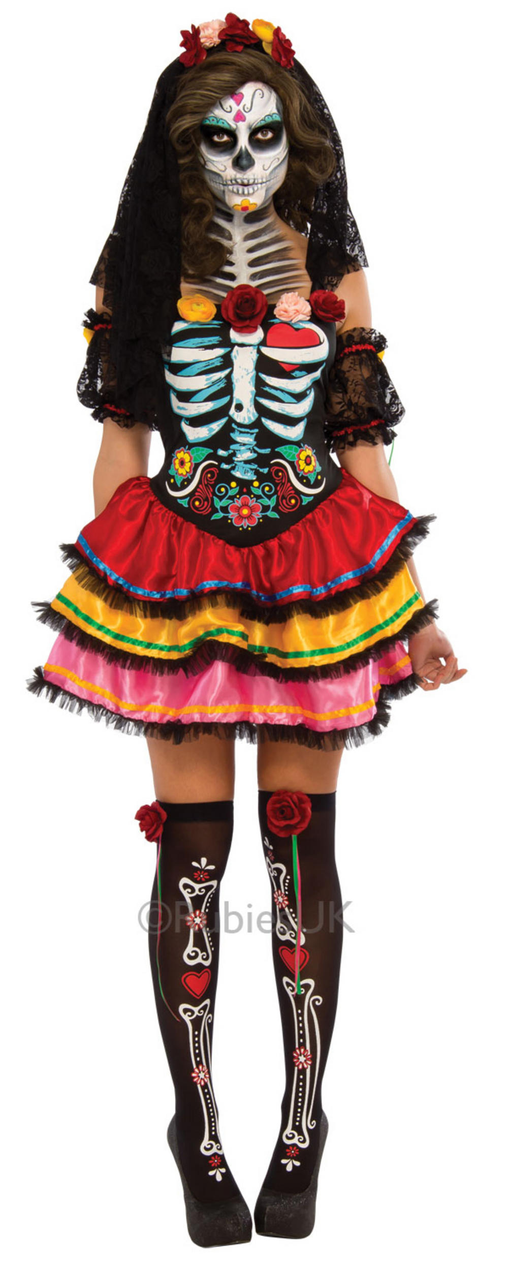 Day of the Dead Senorita Costume  sc 1 st  Mega Fancy Dress & Day of the Dead Senorita Costume | All Ladies Halloween Costumes ...