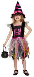 Pink Sparkle Witch Girls Costume