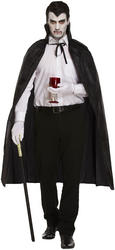 Black Cape Adults Costume