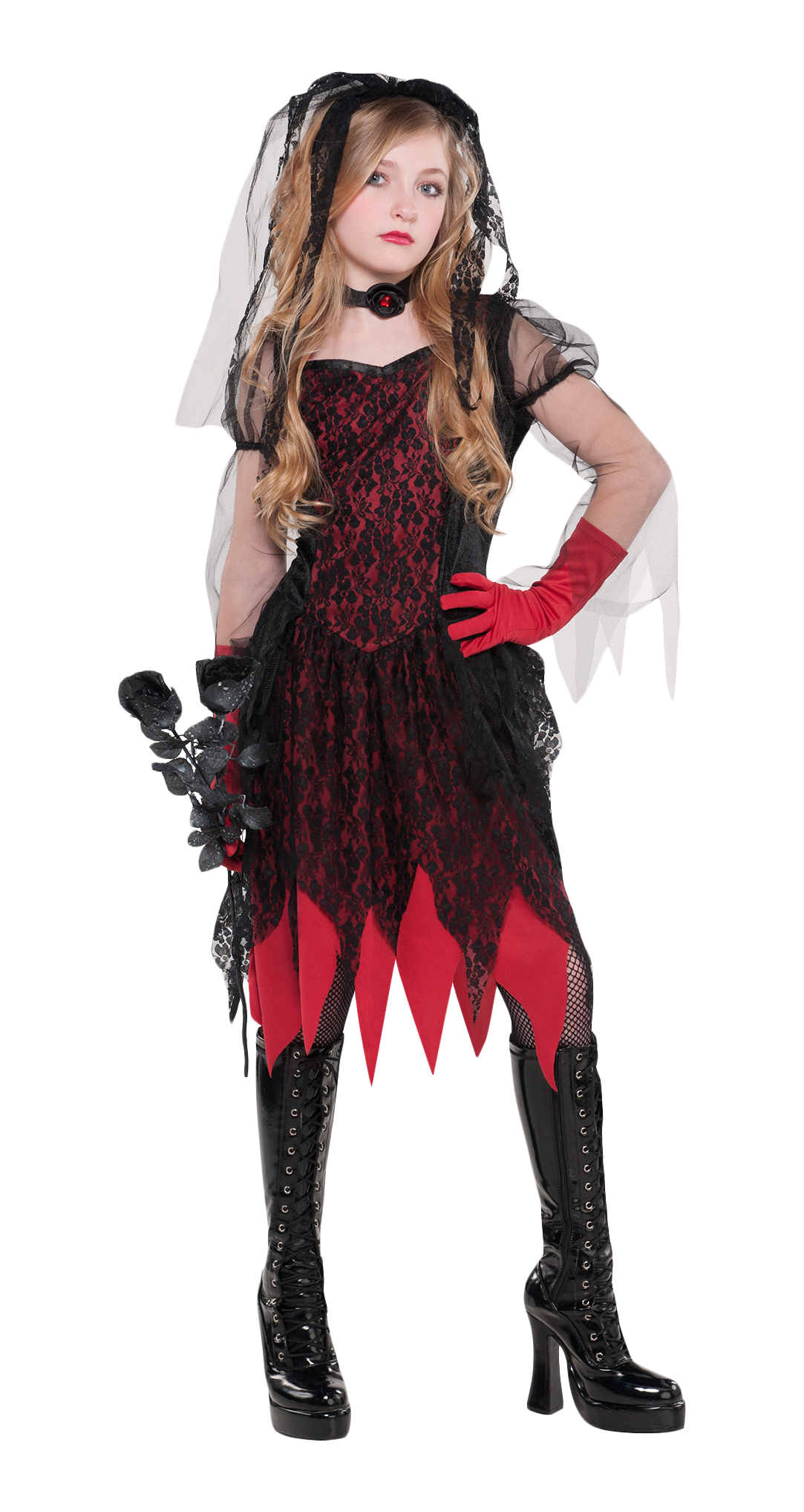 sentinel deadly wed zombie age 8 14 girls fancy dress halloween childs kids costume new