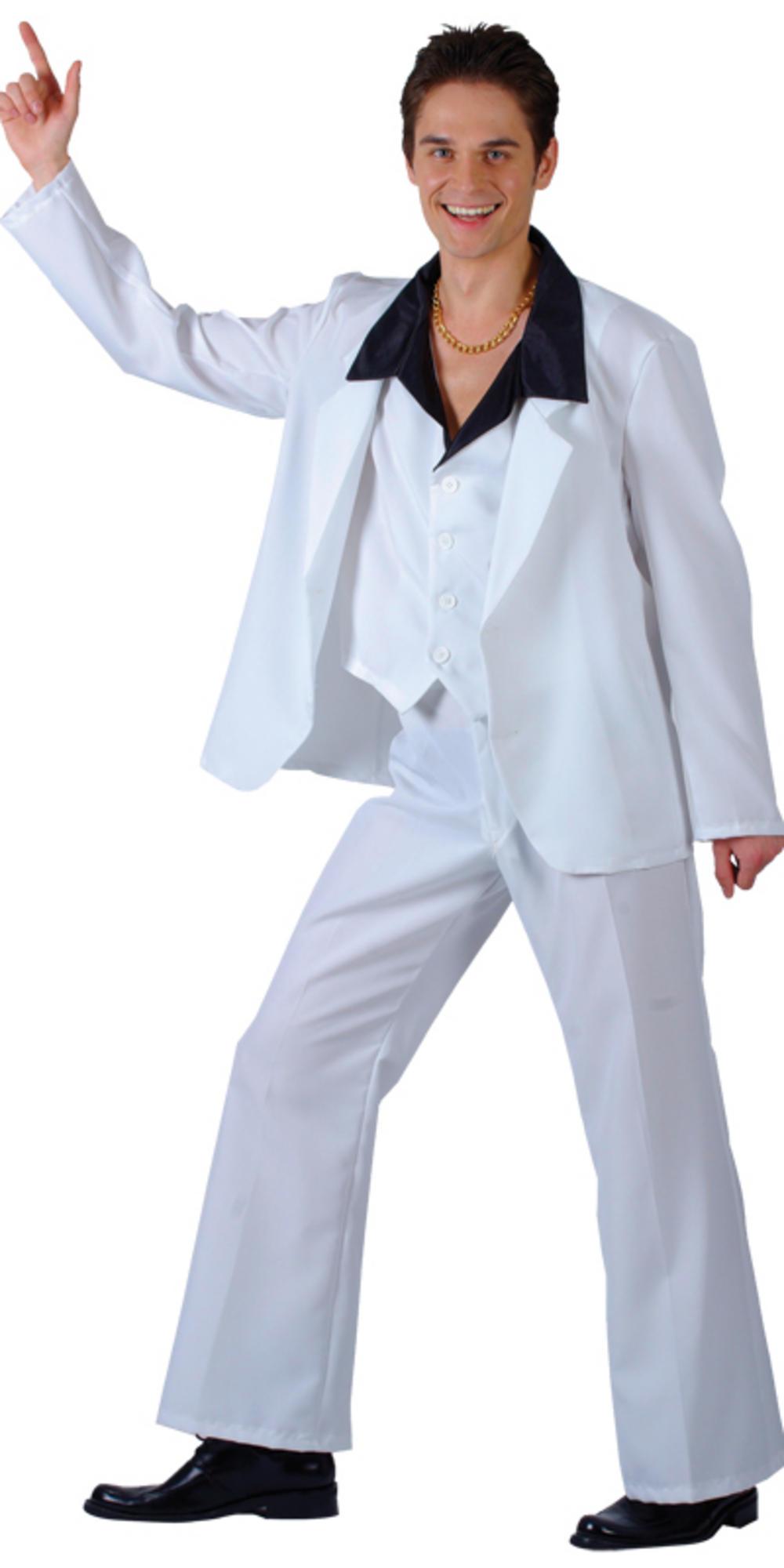 Mens' 1970s Disco Fever Fancy Dress Costume