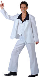 Mens' 1970s Disco Fever Fancy Dress Costume