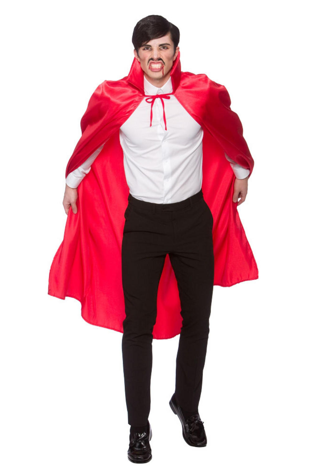 Deluxe Red Satin Collared Cape