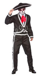 Deluxe Mariachi Day of the Dead Mens Costume