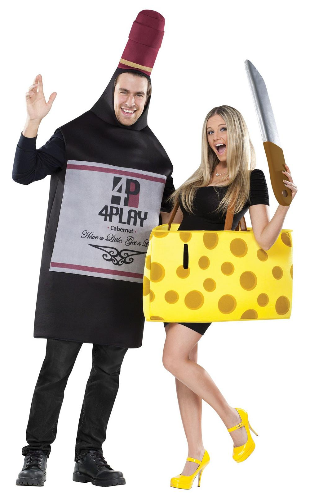 Wine and Cheese Couple Costume