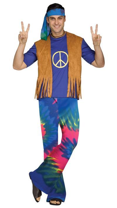 Groovy Hippie Mens Fancy Dress