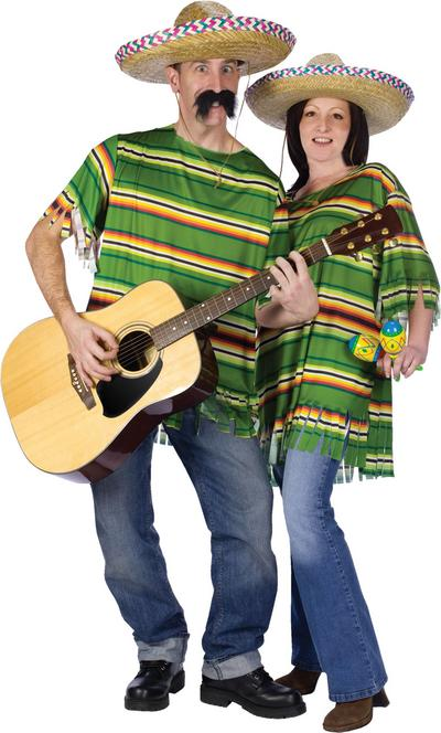 Mexican Serape and Hat Costume