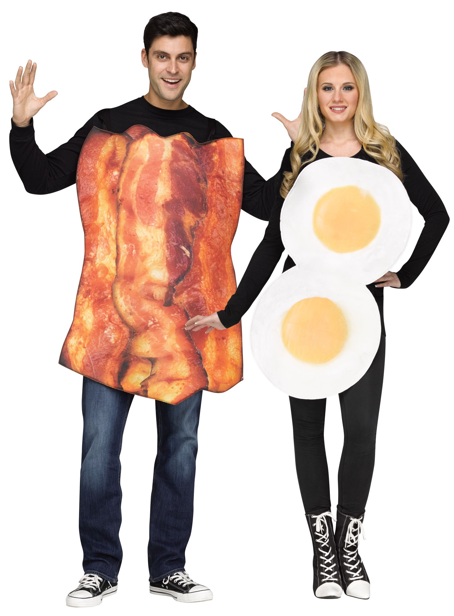 bacon and eggs couple costume herren karneval kost me mega fancy dress. Black Bedroom Furniture Sets. Home Design Ideas