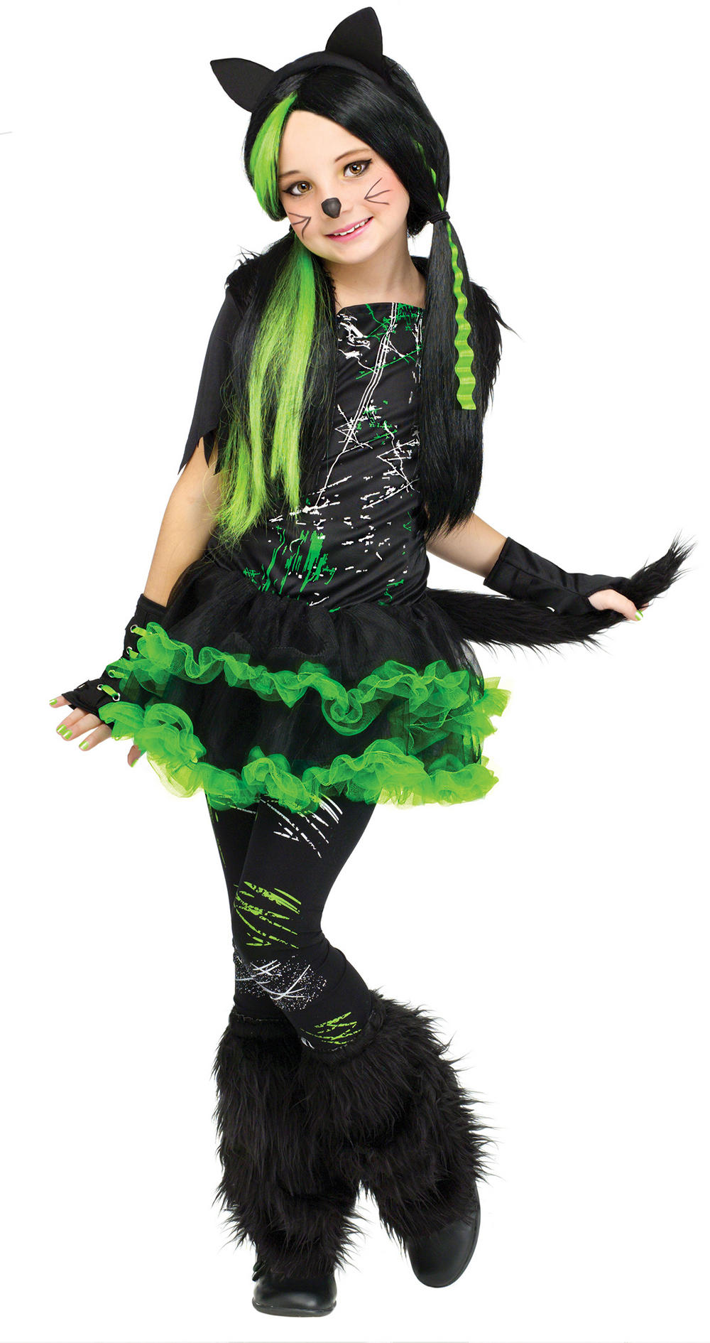 02b2de829ae Cool Cat Girls Halloween Costume
