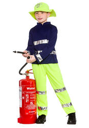 Fireman Rescue Kids Costume