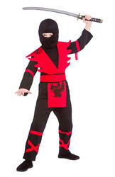 Ninja Assassin Black and Red Boys Costume