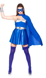 Blue Hot Superhero Costume