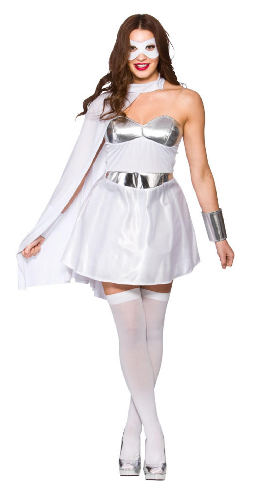White Hot Superhero Ladies Costume