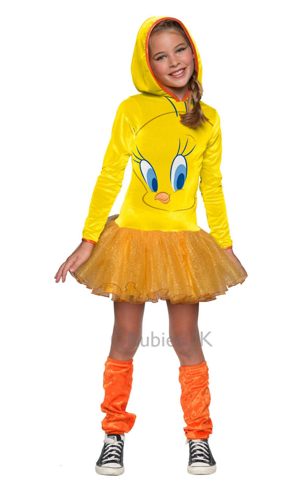 Cartoon Characters Costumes : Tweety pie girls cartoon character costume tv book and