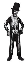 Skeleton Bones Zombie Boys Costume