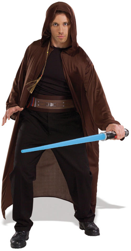 Men' Star Wars Jedi Knight Costume with light saber