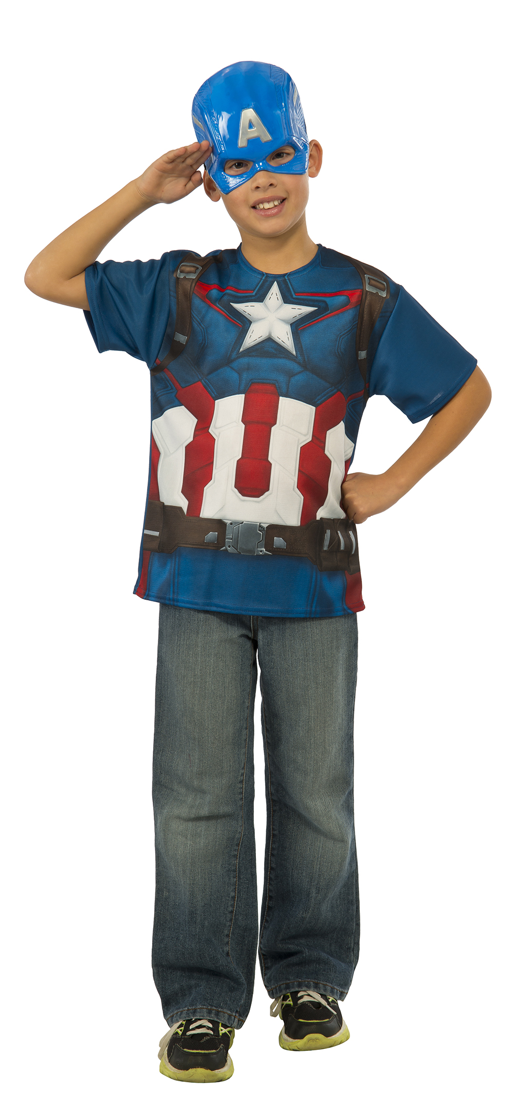 Captain america boys t shirt costume tv book and film for Costume t shirts online