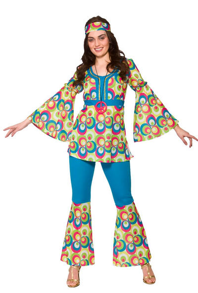 Funky Hippy Chick Ladies Costume