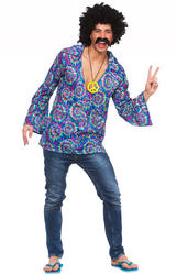 Funky Hippie Shirt Mens Costume