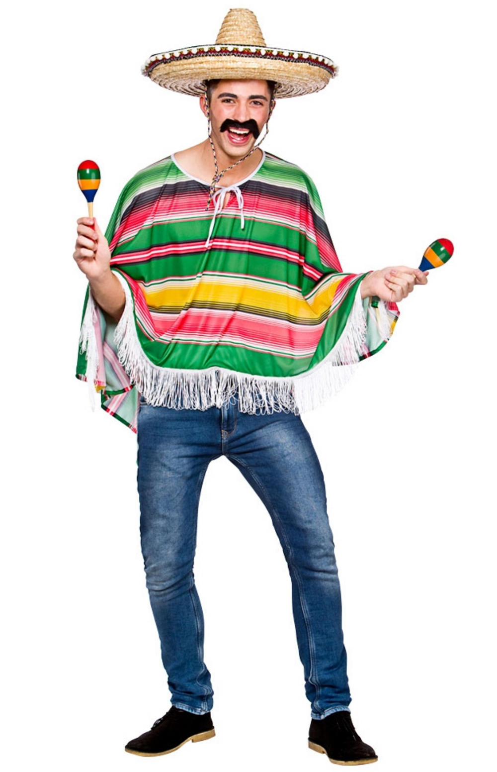 Mexican Bandit Poncho Mens Costume