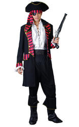 Deluxe Pirate Captain Mens Costume