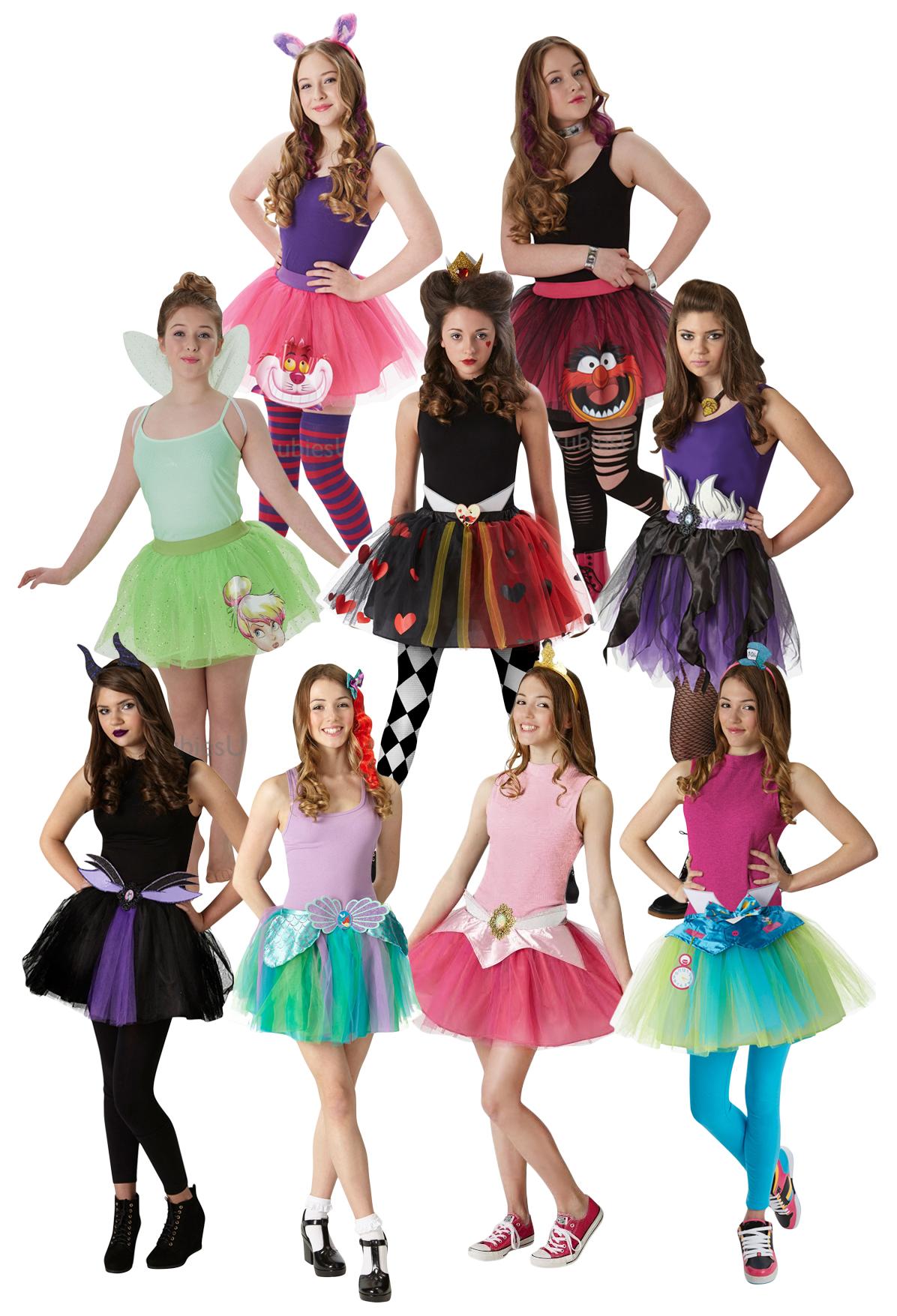 Ladies Teen Cheshire Cat Alice in Wonderland Tutu Fancy Dress Costume Outfit Kit