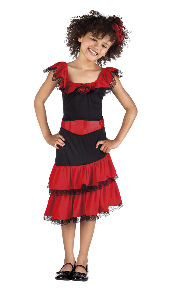 a6bcb5d53 Sentinel Spanish Beauty Girls Fancy Dress Fiesta Tango National Dress Kids  Childs Costume Sc 1 St EBay
