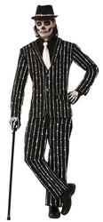 Bone Pin Stripe Adults Costume
