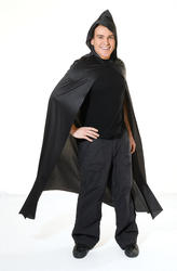 Long Black Cape Costume