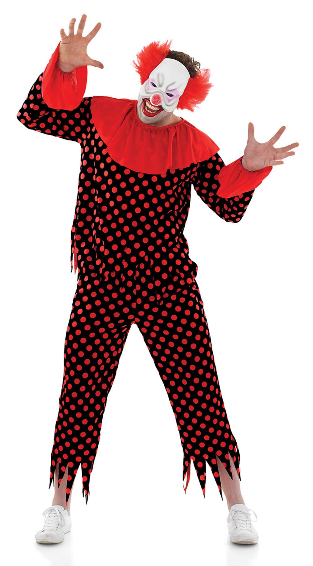 Scary Clown Mens Costume | Mens Halloween Costumes | Mega Fancy Dress