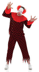 Scary Clown Mens Costume