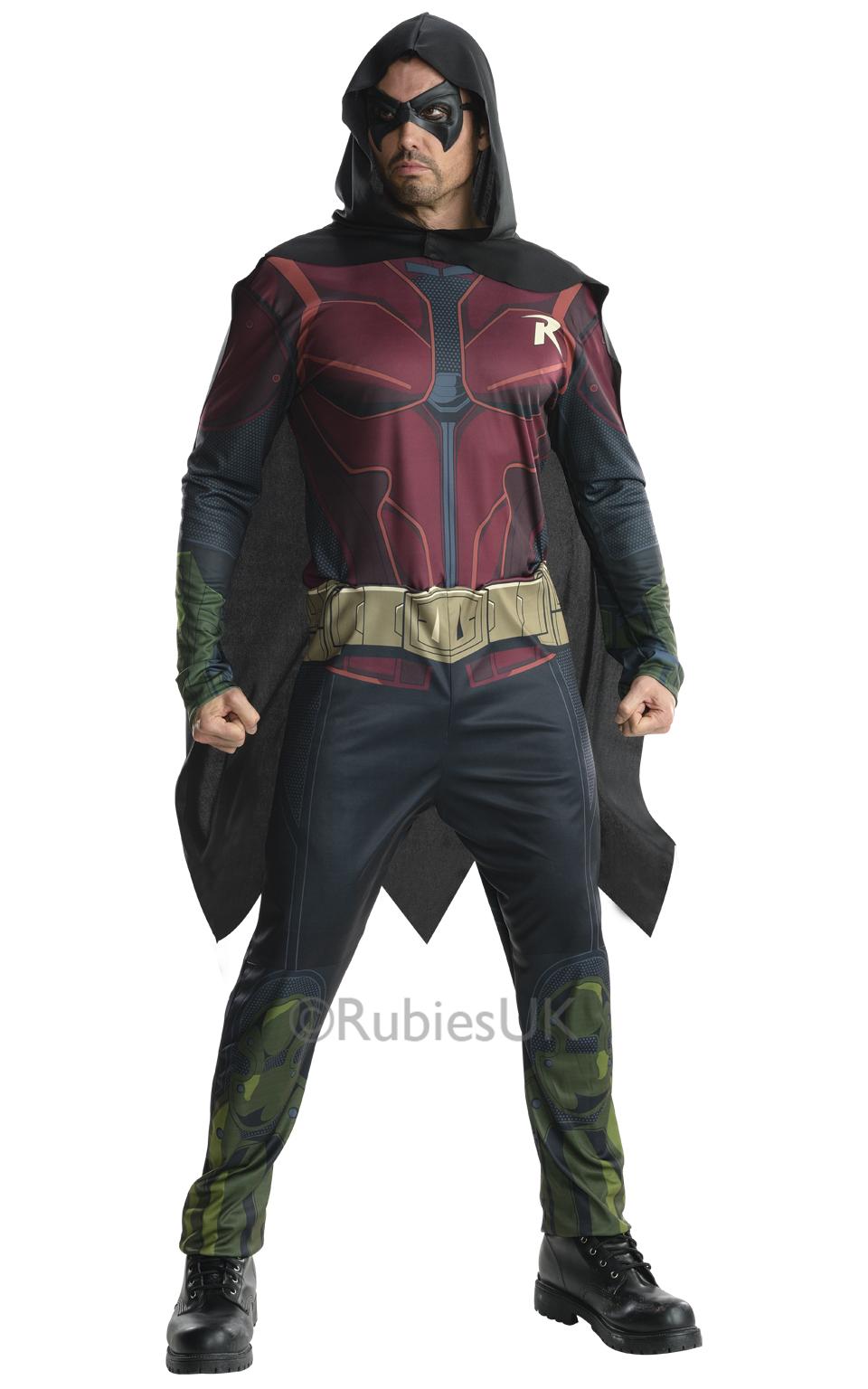 Arkham City Robin Mens Fancy Dress Batman Superhero ...
